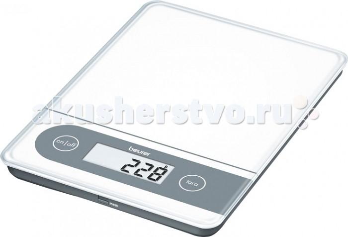Beurer Весы кухонные KS59Весы кухонные KS59Beurer Весы кухонные KS59  Электронный прибор с увеличенной грузоподъемностью позволяет взвешивать крупногабаритные продукты до 20 килограмм. При этом точность взвешивания составляет 1 грамм. Эти кухонные весы обладают широкими возможностями. Например, у них есть функция просмотра в памяти последнего результата измерения, а также функция обнуления веса тары. Современная система управления с помощью сенсорных кнопок и крупного ЖК-дисплея обеспечивает простое и удобное пользование прибором. В случае перегрузки вы увидите на экране соответствующее предупреждение.   Особенности:  Идеально подходят для взвешивания крупных предметов  С функцией памяти  Память последнего результата взвешивания  Современные сенсорные кнопки  Легкая очистка  Тара - функция довешивания  Очень большой ЖК-дисплей  Автоматическое отключение.   Технические характеристики:  Цена деления: 1 г  Максимальный вес: 20 кг  Размер цифр: 20 мм  Размеры изделия: 22 x 30 x 2.5 см   В комплект входит:  Весы  Батарейки  Инструкция  Производитель:Beurer GmbH , Германия Гарантия: 36 мес.<br>