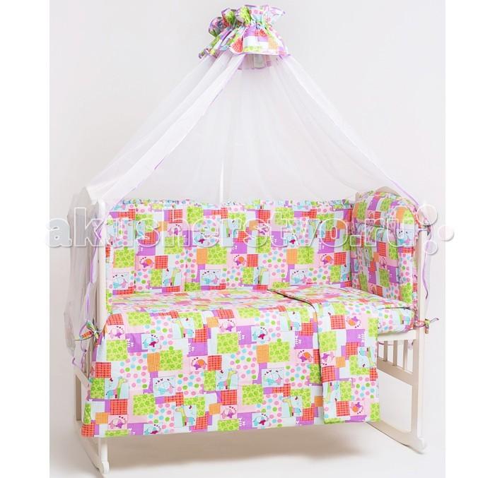 Комплект в кроватку Мой Ангелочек Зоо (7 предметов)