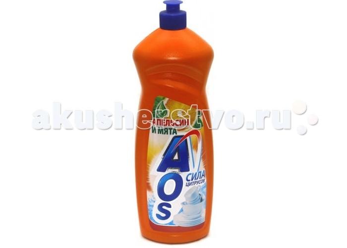 Бытовая химия AOS Средство для мытья посуды Апельсин и Мята 1000 г бытовая химия aos средство для мытья посуды 2 в 1 глицерин 1 л