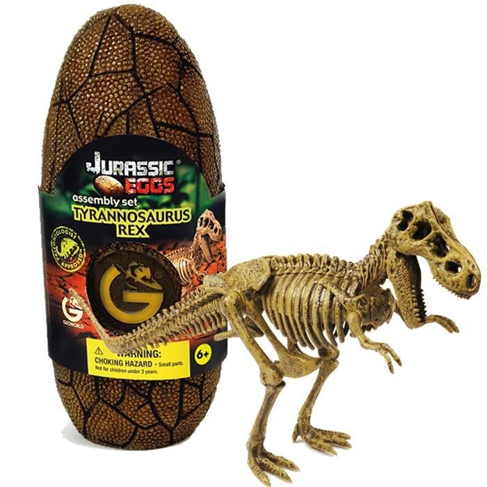 Конструкторы Geoworld Сборная модель динозавра в яйце Jurassic eggs - Тираннозавр Рекс 13 деталей конструкторы geoworld сборная модель динозавра в яйце jurassic eggs стигимолох n14 деталей