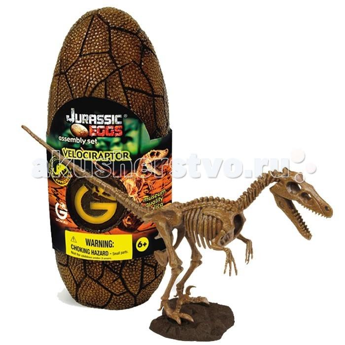 Конструкторы Geoworld Сборная модель динозавра в яйце Jurassic eggs - Велоцираптор 15 деталей конструкторы geoworld сборная модель динозавра в яйце jurassic eggs стигимолох n14 деталей
