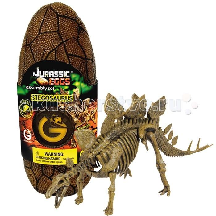 Конструкторы Geoworld Сборная модель динозавра в яйце Jurassic eggs - Стегозавр 15 деталей конструкторы geoworld сборная модель динозавра в яйце jurassic eggs стигимолох n14 деталей