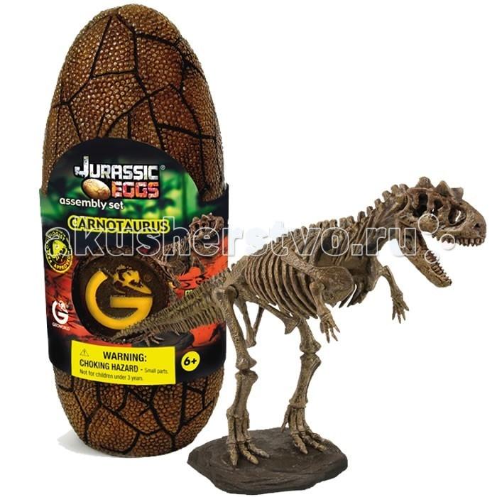 Конструкторы Geoworld Сборная модель динозавра в яйце Jurassic eggs - Карнотавр 14 деталей конструкторы geoworld сборная модель динозавра в яйце jurassic eggs стигимолох n14 деталей