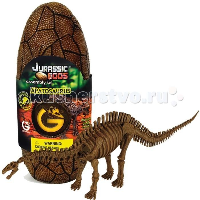 Конструкторы Geoworld Сборная модель динозавра в яйце Jurassic eggs - Апатозавр 14 деталей конструкторы geoworld сборная модель динозавра в яйце jurassic eggs стигимолох n14 деталей