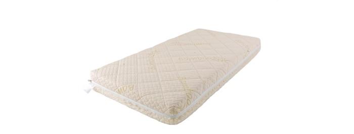 Матрас Babysleep класса Люкс BioForm Bamboo 125x65класса Люкс BioForm Bamboo 125x65Уникальный детский матрас двусторонней жесткости класса Люкс BioForm Bamboo 125x65. Экологически чистый, так как при производстве не используются клеевые материалы.  Особенности: - Жесткая сторона состоит из 100% натурального материала – кокосового волокна (кокосовая плита от Enkev, Голландия) с латексной пропиткой - это увеличивает долговечность и придает детскому матрасу пружинящие свойства; отличается гигиеничностью, антиаллергенностью и естественной вентиляцией. - Сторона средней жесткости – это блок Naturalform (производство GommaGomma, Италия) – обладает особой пористой внутренней структурой, благодаря чему прекрасно пропускает воздух.  Чехлы: внутренний и внешний:  Внутренний чехол (100% натуральный хлопок) надежно фиксирует компоненты детского матраса BabySleep «BioForm Bamboo», увеличивает срок его службы и позволяет комфортно использовать внешний чехол, без риска деформации матраса;  Внешний чехол с 3-сторонней молнией и удобными сторонами зима – лето: ЛЕТО - высококачественный материал Bamboo итальянской фабрики Stellini,- это тонкое волокно с очень высокой прочностью, мягкое и приятное на ощупь.  Структура бамбукового волокна состоит из множества крошечных ячеек, а это обеспечивает прекрасную вентиляцию и высокую гигроскопичность; Bamboo Kun – уникальный био-агент. Он отличается антибактериальными свойствами, способностью впитывать неприятные запахи.  Все свои прекрасные свойства бамбуковое волокно сохраняет даже после многочисленных стирок детского матраса. ЗИМА - 100% натуральная тонкорунная шерсть овцы-мериноса (производство: Cafissi, Италия) с противомикробной и противоклещевой пропиткой (снижает риск возникновения аллергии);  Шерсть мериноса (за счет высокого содержания ланолина – животного воска) является природным антисептиком, укрепляет иммунную систему, способствует лучшей релаксации, снимает стресс.  Малышу обеспечивается сухой и расслабляющий микроклимат в детск
