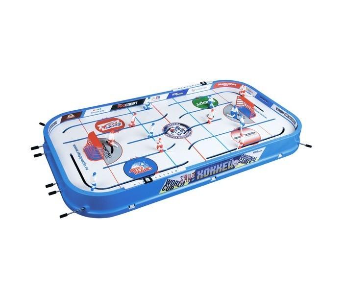 Step Puzzle Настольная игра ХоккейНастольная игра ХоккейStep Puzzle Настольная игра Хоккей - это захватывающий настольный хоккей разработанный в России для отличного времяпровождения. Отличительная сторона это интересное моделирование и необычная техника. В особенности криволинейные траектории движения игроков и вероятность левому нападающему заезд за ворота противника придают игре еще больше реальности. Игроки управляются с помощью стержней с резиновыми ручками. Счет ведется на механизированном табло. Настольная игра бывает уже собрана, остается установка сеток и хоккеистов, и приступать к игре!  Возраст: от 6 лет Комплект: игровое поле, шайба, фигурки хоккеистов Количество предполагаемых игроков: 2<br>