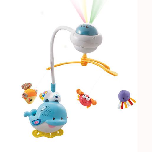 Мобиль Vtech Звуки Океана 80-136026Звуки Океана 80-136026Мобиль Vtech Звуки Океана поможет вашему малышу погрузиться в сказочную страну снов. Расслабляющие мелодии и спокойные звуки океана играют пока волчок проецирует успокаивающий свет на потолке.   Мобиль оснащен автоматическим включением, реагирующим на плачь ребенка.  Мягкие плюшевые игрушки стимулируют развитие чувствительности пальчиков и делают тактильные ощущения ребенка более запоминающимися. таймер автоматического отключения, небьющийся дизайн, регулировка громкости, света и времени.<br>