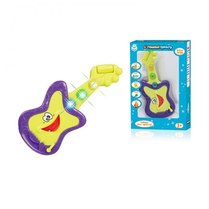 Музыкальные игрушки 1 Toy Поющий оркестр Веселая Гитара электронная гитара со светом поющий оркестр 1toy
