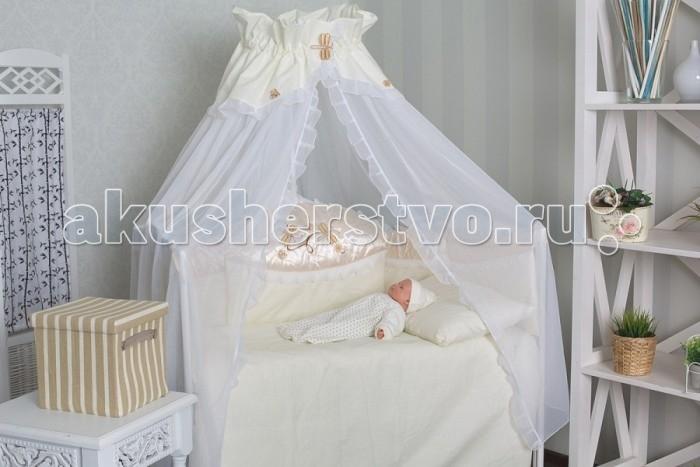 Комплект в кроватку GulSara 40 (7 предметов)40 (7 предметов)Комплект постельного белья 40 (7 предметов) включает все необходимые элементы для детской кроватки.  Кроватка Вашего малыша будет неотразимой и очень уютной. Ведь в комплект входит все необходимое для крепкого и безопасного сна малыша.  Комплект сшит из 100% натуральных материалов с соблюдением высоких стандартов качества. Ткань из 100% хлопка не только мягкая и шелковистая, но так же не электризуется, долговечная и легко стирается.   Характеристики:  Материал: бязь, вуаль. Отделка: ткань-атлас, вышивка Стрекоза. Наполнитель: синтепон (борта, подушка, одеяло).  Комплектность: комплект раздельных бортов 360х40х55 см подушка 40х60 см одеяло 110х140 см пододеяльник 110x140 см простынь 100x140 см наволочка 40x60 см балдахин 160х400 см<br>