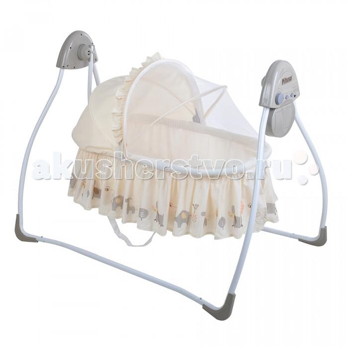 Электронные качели Pituso AsterAsterЭлектронные качели Pituso Aster для детей до 9 месяцев.  Особенности: Съемная люлька-переноска; 4 скорости качания; 12 мелодий; Работают от 4-ех батареек D (в комплект не входят) или адаптера; 3 режима работы качелей (8, 15 и 30 минут); Ремень безопасности; Съемный чехол можно стирать, желательно вручную; Москитная сетка защищает от насекомых и тополиного пуха; Укомплектованы подушкой; Оснащены светом.<br>