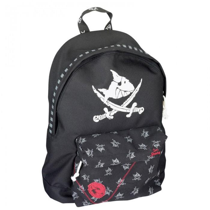 Spiegelburg Рюкзак Capt&amp;#180;n Sharky 30239Рюкзак Capt&amp;#180;n Sharky 30239Компактный рюкзак Capt'n Sharky для маленьких пиратов! Функциональный, вместительный имеет одно главное отделение и внешний карман на молнии. Украшен принтом в виде пиратской символики.  Особенности:  Размер: 27 x 38 x 13 см<br>