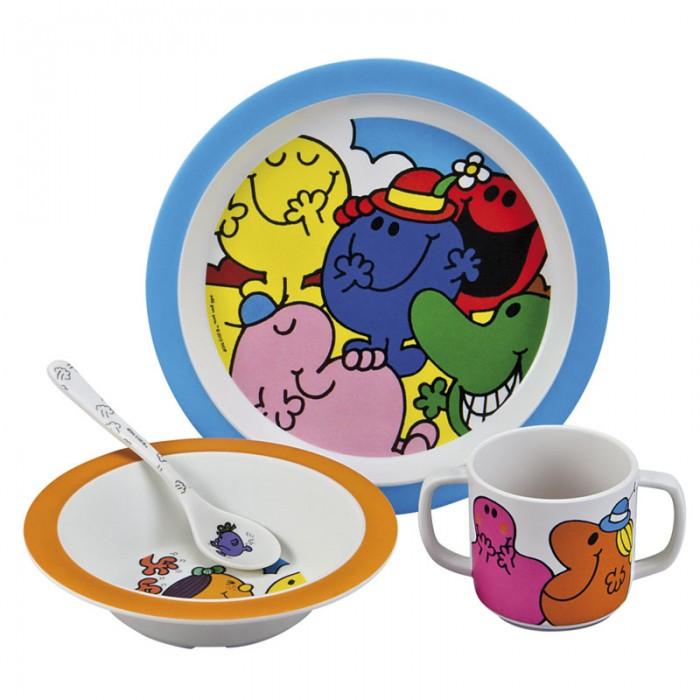 Petit Jour Набор детской посуды Monsieur MadameНабор детской посуды Monsieur MadamePetit Jour Набор детской посуды Monsieur Madame в подарочной упаковке. Ваш малыш будет кушать с удовольствием!   Особенности: набор изготовлен из гипоаллергенного материала 0% фталатов и BPA (бифенол А) на дне тарелки есть веселый рисунок, для того, чтобы ее разглядеть, нужно опустошить тарелку тарелка с нескользящим дном и широкими краями, что обеспечивает ее устойчивость и непроливание пищи глубокая ложечка удобная ручка у ложки идеальна для самостоятельного питания кружка с двумя ручками тарелку и приборы можно мыть в посудомоечной машине  не подходит для использования в микроволновой печи и для горячих напитков  В комплекте: тарелка, глубокая тарелка, ложка и кружечка. В подарочной упаковке.  Размер: ложка 14 см, глубокая тарелка 16 см, тарелка 21 см, кружка 7х9 см<br>