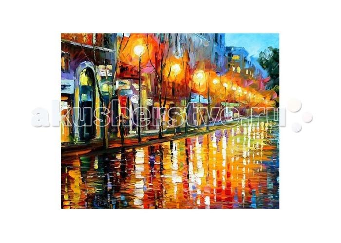 Картины по номерам Molly Картина по номерам Л.Афремов Отражения ночного города  картина по номерам цветной тм gx7844