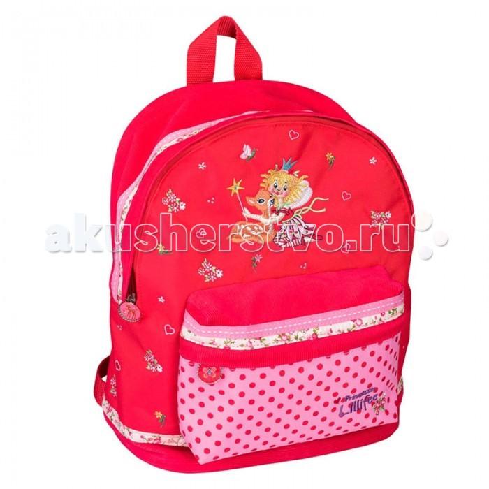 Spiegelburg Рюкзак Prinzessin Lillifee 30415Рюкзак Prinzessin Lillifee 30415Компактный детский рюкзак Prinzessin Lillifee выполнен из водостойкой ткани яркого красного цвета с вышивкой. В него можно сложить все самые необходимые вещи. Очаровательный рюкзак обрадует любую принцессу!  Особенности:   Размер: 23 x 29 x 17 см<br>