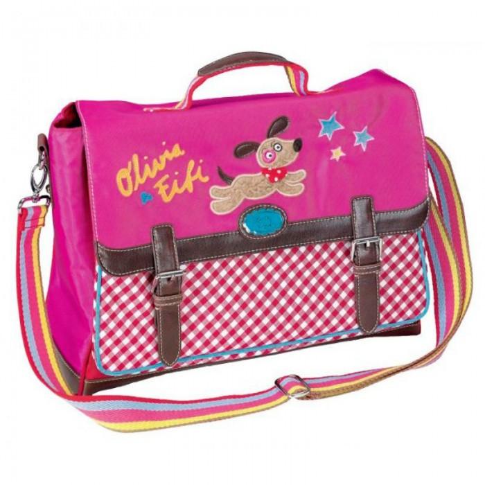 Spiegelburg Сумка Olivia &amp; Fifi 90347Сумка Olivia &amp; Fifi 90347Сумка-портфель Olivia & Fifi стильная, функциональная и вместительная. Выполнена в ярких цветах с контрастными коричневыми кожаными ремешками. Отличная сумка на каждый день!  Особенности:   Размер: 38 x 15 x 28 см<br>