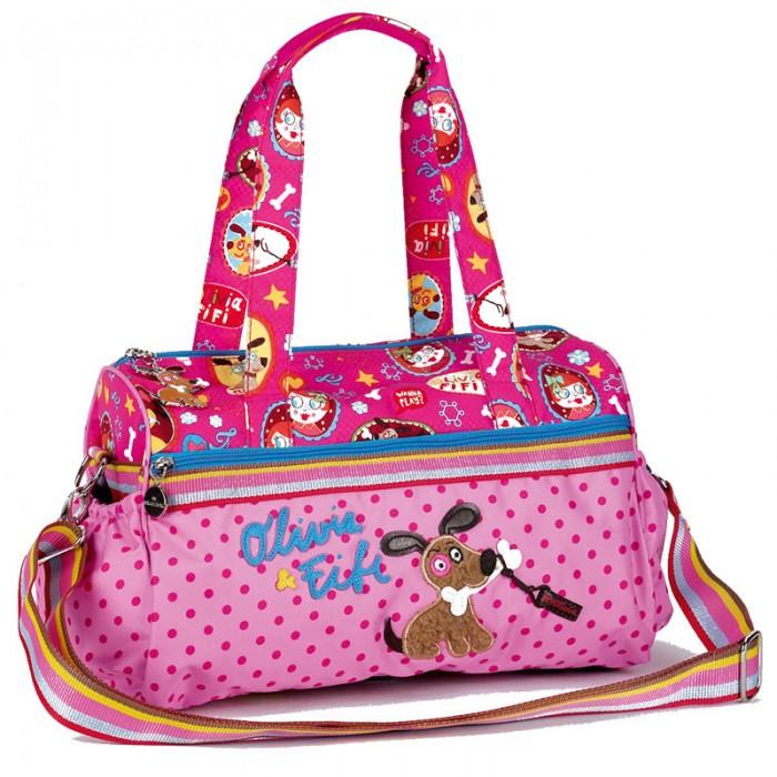 Spiegelburg Сумка Olivia &amp; Fifi 93817Сумка Olivia &amp; Fifi 93817Необычная и стильная сумка Olivia & Fifi изготовлена с удобными ручками и регулируемым ремешком, что позволяет комфортно носить ее на плече. Имеет одно главное отделение на молнии и два боковых кармана.  Особенности:   Размер: 34 х 20 х 13 см<br>
