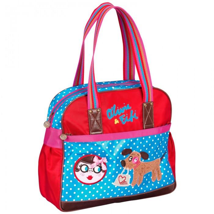 Spiegelburg Сумка Olivia &amp; Fifi 95062Сумка Olivia &amp; Fifi 95062Яркая повседневная сумка Olivia & Fifi выполнена из прочной водоотталкивающей ткани. Имеет одно главное отделение, внешний карман и две удобные ручки. Все в этой сумке создано для комфортной носки.  Особенности:   Размер: 33 х 35 х 13 см<br>