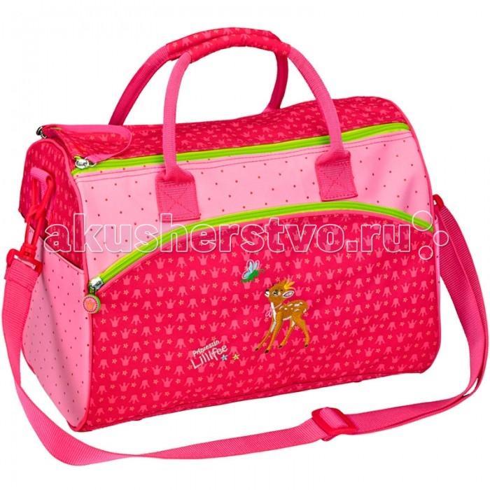 Spiegelburg Спортивная сумка Prinzessin Lilifee 11784Спортивная сумка Prinzessin Lilifee 11784Спортивная сумка Prinzessin Lilifee яркая, красивая сумка для занятий спортом  розового цвета с милым олененком, для девочек! Удобное внутреннее отделение с двумя параллельными молниями, внешние карманы, комфортные ручки.  Особенности:   Размер: 35 х 25 х 20 см<br>