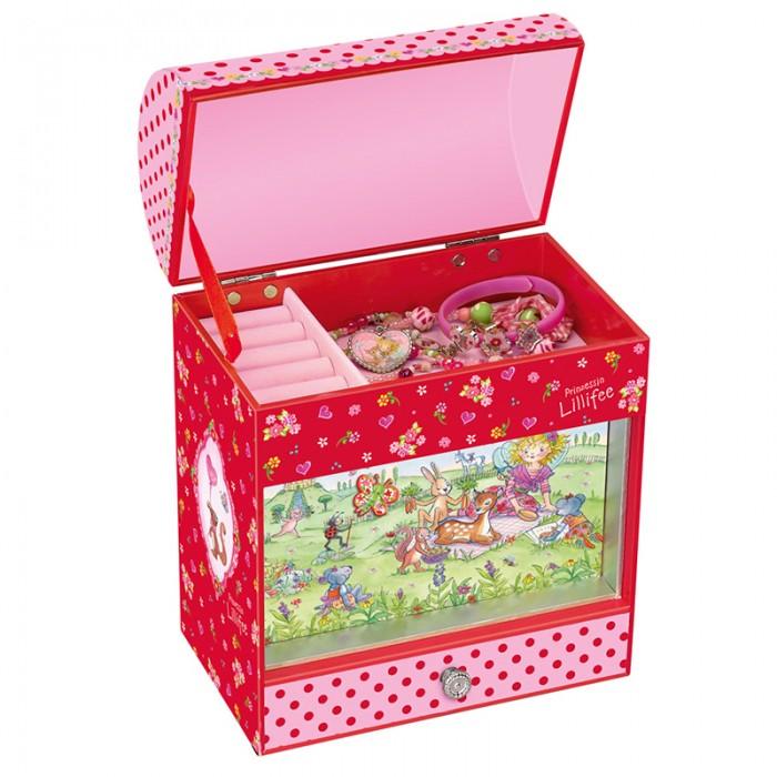 Spiegelburg Музыкальная шкатулка Prinzessin Lillifee 21367Музыкальная шкатулка Prinzessin Lillifee 21367Музыкальная шкатулка Prinzessin Lillifee для украшений. Во время проигрывания мелодии на внешней стороне бабочка приходит в движение.   Особенности:   Размер: 22 х 18 х 13 см<br>