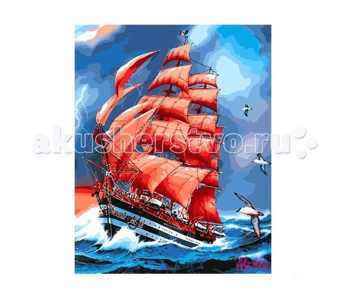 Картины по номерам Molly Картина по номерам Алые паруса  картина по номерам цветной тм gx7844