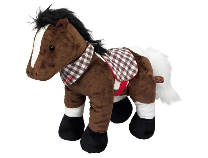 Мягкая игрушка Spiegelburg Плюшевая лошадка Flecki 38 смПлюшевая лошадка Flecki 38 смSpiegelburg Плюшевая лошадка Flecki коллекции Prefdefreunde порадует маленьких любителей лошадей.   Она имеет приятный коричневый окрас с белыми пятнами. Шея украшена шарфиком в клетку, который при желании можно снять.  Лошадку можно брать с собой в путешествия, в детский сад, спать с ней. Подарив такую игрушку ребенку, вы не ошибетесь с выбором!  Игрушка выполнена из качественного плюша, приятна на ощупь.<br>
