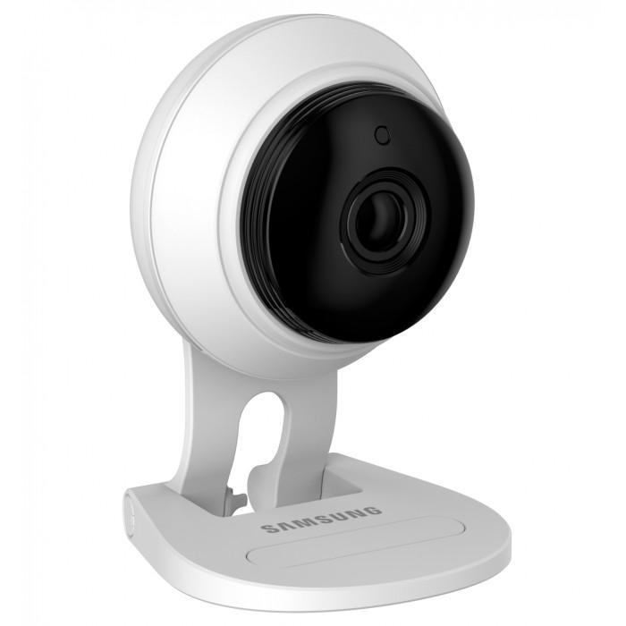 Samsung Видеоняня SmartCam SNH-C6417BNВидеоняня SmartCam SNH-C6417BNSamsung Видеоняня SmartCam SNH-C6417BN оснащена всеми необходимыми функциями для комфортного и безопасного удалённого контроля за ребенком.  Особенности: Wi-Fi видеоняня непрерывно отслеживается звуки и движение в детской комнате. Если ваш малыш расплачется или, проснувшись начнёт двигаться, то видеоняня Samsung незамедлительно оповестит вас с помощью уведомления на смартфоне, планшете или персональном компьютере. Видеоняня Samsung SmartCam SNH-C6417BN представляет из себя камеру, которая подключается к домашней сети Wi-Fi, а родительским блоком выступает ваш планшет, смартфон или компьютер. Наблюдать за ребенком можно не только дома, но и на любом удалении, используя интернет в вашем мобильном устройстве.  Благодаря высокому качеству, которым славится продукция Samsung, видеоняня обеспечивает надёжный круглосуточный мониторинг детской комнаты.  Высокое качество потокового видео Full HD 1080p, обеспечивает детальное изображение в реалистичных цветах. При недостаточном освещении в детской комнате видеоняня автоматически переключается в режим ночного видения. Так что родители могут контролировать малыша днём и ночью, наслаждаясь высоким качеством изображения. Высокое качество изделия от всемирно известного бренда. Стабильная и надёжная связь. Высокое качество изображения Full HD 1080p (возможно понизить качество для сетей с низкой пропускной способностью). Ультра-широкий угол обзора камеры 130о, что позволяет охватить почти всю комнату (зависит от расположения). Наклон камеры регулируется вручную. Наблюдение за ребёнком из любой точки планеты через интернет. В качестве родительского блока используется смартфон или планшет (iPad, iPhone, Android), ноутбук (Windows или MacBook) или настольный компьютер (Windows или Mac). Активация при обнаружении звука с уведомлением на родительское устройство. Активация при обнаружении движения с уведомлением на родительское устройство. Возможно указать только определё