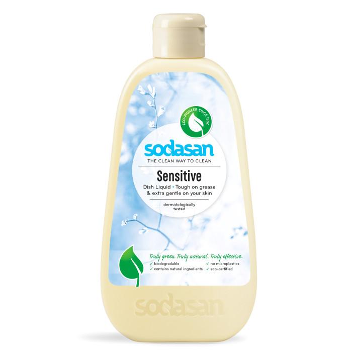 Бытовая химия Sodasan Концентрированное жидкое средство для мытья посуды для чувствительной кожи Sensitive 500 мл жидкое мыло sodasan пряный апельсин 250 мл