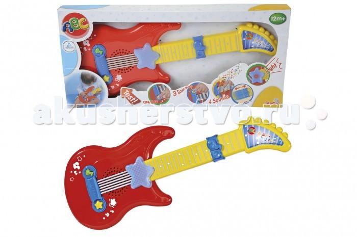 Музыкальная игрушка Simba Гитара на батарейках  - купить со скидкой