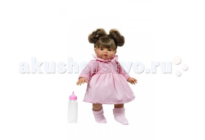 ASI Кукла Эмма 36 см, 2430050Кукла Эмма 36 см, 2430050ASI Кукла Эмма 36 см, 2430050  - чудесная куколка, которую можно брать с собой везде. Озорные хвостики Эммы никого не оставят равнодушным.  Голова, ручки, ножки сделаны из качественного винила, тело мягконабивное.У Эммы лучезарное милое личико с выразительными глазками.Одета в очаровательное бело-розовое платье. В комплекте есть бутылочка.  Пупсик упакован в красочную именную коробку испанского кукольного дома ASI.  Особенности:  кукла ASI сделана очень качественно.  Без запаха.   Используется безопасный твердый винил.  Видна прорисовка мельчайших подробностей тела, рук и ног.<br>
