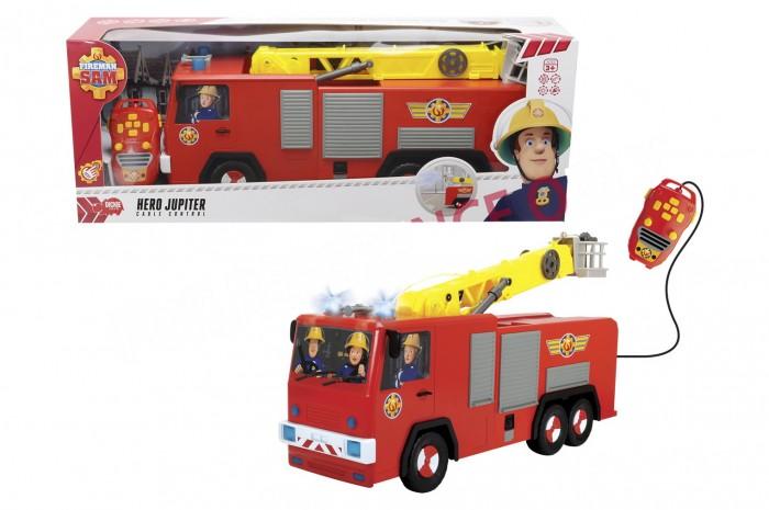 Dickie Пожарный Сэм пожарная машина Юпитер 62 смПожарный Сэм пожарная машина Юпитер 62 смDickie Пожарный Сэм пожарная машина Юпитер 62 см   Пожарная машина Юпитер - это незаменимое транспортное средство пожарного Сэма из одноименного мультфильма. Именно на этой пожарной машине Сэм спешит на вызов. Игрушечная машинка полностью копирует внешний вид мультяшной машинки, чем непременно понравится маленьким поклонникам этой интересной истории.   Особенности: Пожарная машина Юпитер управляется при помощи дистанционного пульта. Игрушка оснащена разнообразными эффектами, которые сделают игру еще интереснее. У машинки поднимается и вращается пожарная лестница, горят огни проблескового маячка на крыше и играют забавные мелодии.  Окна кабины украшены оригинальными наклейками с изображением пожарного Сэма и его помощника.  Игра с пожарной машинкой Юпитер из серии Пожарный Сэм станет для ребенка веселой и познавательной.  Длина: 62 см<br>