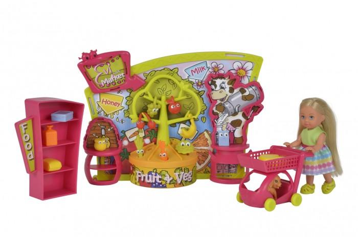 Куклы и одежда для кукол Simba Кукла Еви в супермаркете 12 см сумку тележку для продуктов