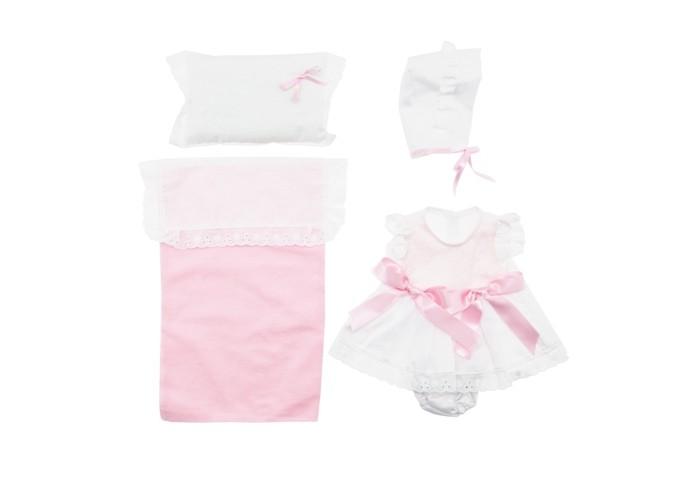 ASI Одежда для кукол ASI 45 см 0000084Одежда для кукол ASI 45 см 0000084ASI Одежда для кукол ASI 45 см 0000084  Розовый комплект одежды и постельным бельм  для куклы 45 см.Этот комплект состоит из платья, чепчика и постельного белья.С ними маленькая мама может не волноваться за своего пупса, он всегда будет в тепле.Нежные цвета и красивый принт непременно придутся по вкусу любой девочке.Игры в переодевания помогут вашему ребёнку развить свою фантазию, научит проявлять заботу и ответственность. Процесс одевания развивает мелкую моторику.<br>