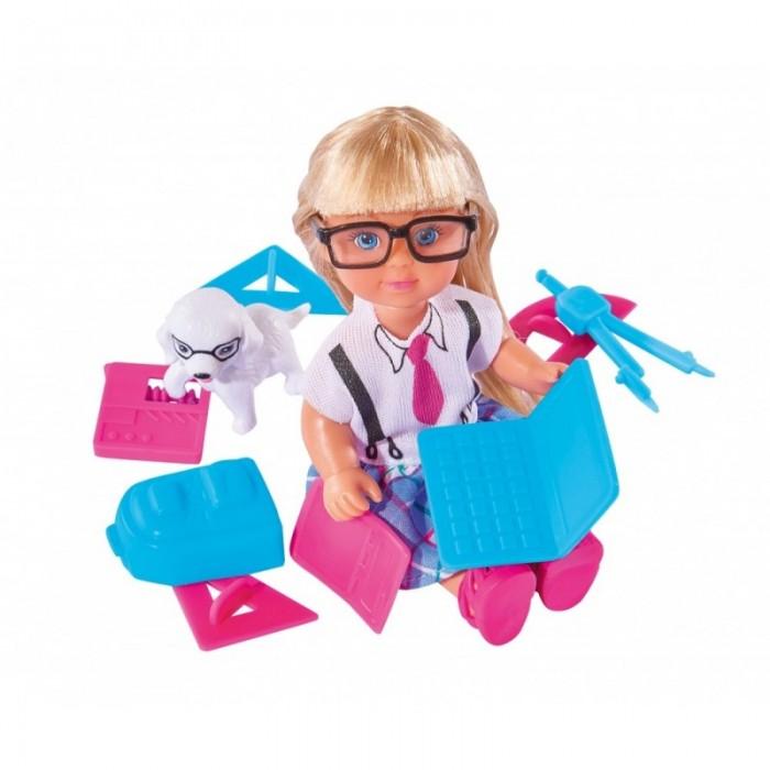 Куклы и одежда для кукол Simba Кукла Еви и школьные принадлежности 12 см школьные принадлежности в виде косметики