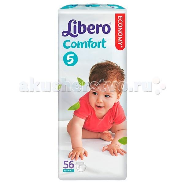 Подгузники Libero Подгузники Comfort 5 (10-16 кг) 56 шт. подгузники libero comfort maxi 10 16 кг 18 шт размер 5