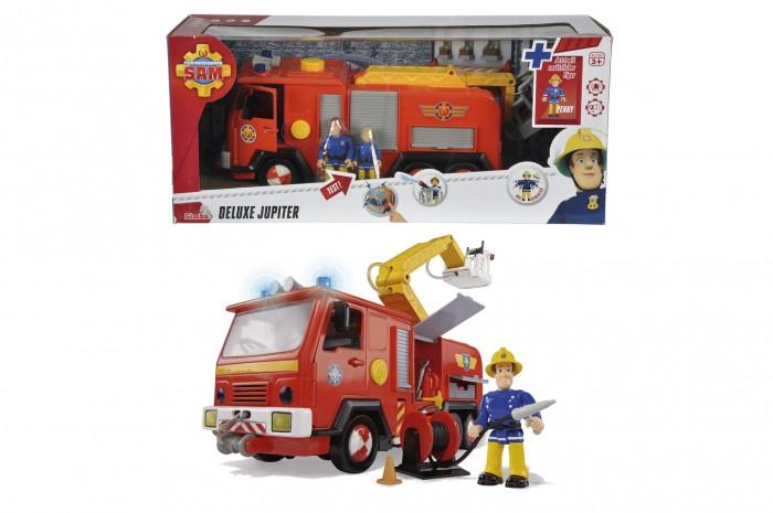 Simba Игровой набор Пожарный Сэм Пожарная машинаИгровой набор Пожарный Сэм Пожарная машинаSimba Игровой набор Пожарный Сэм Пожарная машина + 2 фигурки.  Особенности: Пожарный Сэм включает в себя фигурки двух пожарных-спасателей и модель пожарной машины.  Очень познавательная и сделанная с высоким качеством игрушка. Поступил сигнал тревоги - незамедлительно выезжайте на помощь.  Включите сирену и яркие предупреждающие огни для быстрого прибытия на место пожара.  В распоряжении специальный гибкий шланг, а также выдвижная лестница, чтобы своевременно потушить огонь на верхних этажах.  Реалистичность игре придает еще и наличие функции воды.  Нажимая на желтую кнопку на автомобиле, из шланга поступит напор настоящей воды.  Размер машинки: 28 см<br>