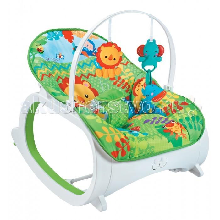FitchBaby Кресло-качалка с игрушками и вибрацией Infant-To-Toddler Delux 88925Кресло-качалка с игрушками и вибрацией Infant-To-Toddler Delux 88925FitchBaby Кресло-качалка с игрушками и вибрацией Infant-To-Toddler Delux 88925  Fitch Baby Infant-To-Toddler Delux - детский шезлонг с самого рождения и до трех лет.  Особенности: Дуга с двумя игрушками съемная. Шезлонг можно использовать как креслице-качалку для детей до 2-3 лет. Блок вибрации поможет ребенку успокоиться и расслабить мышцы. Блок с музыкой развлечет его во время бодрствования. Качалка имеет фиксатор позволяющее превратить ее в неподвижное кресло. Для работы необходимы 4 пальчиковых батарейки AA (LR6) 1.5V которые не входят в комплект поставки. Покрытие сиденья съемное. Его можно стирать в машине в режиме деликатной стирки. Максимальный вес ребенка находящего в креслице не должен превышать 18 кг.<br>