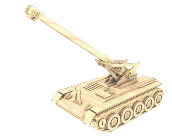 Конструкторы Мир деревянных игрушек (МДИ) Самоходная пушка