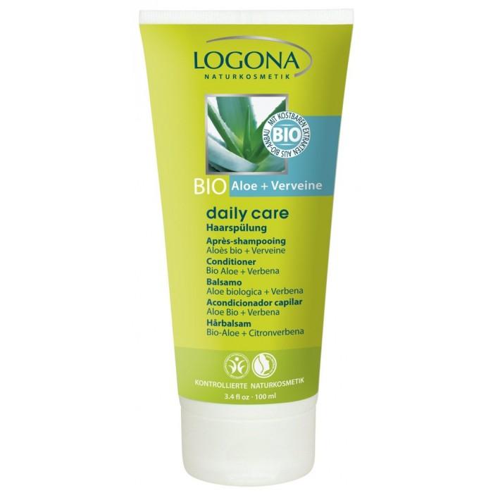 Косметика для мамы Logona Daily Care Кондиционер для волос с Био-Алоэ и Вербеной 100 мл logona кокосовое масло 45 мл