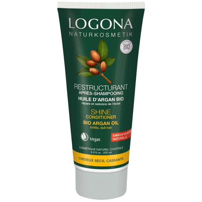 Косметика для мамы Logona Кондиционер для Блеска волос с Био-Аргановым маслом 200 мл logona кокосовое масло 45 мл