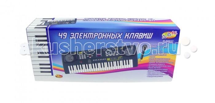 Музыкальная игрушка DoReMi Синтезатор D-00037 49 клавишСинтезатор D-00037 49 клавишDoReMi Синтезатор 49 клавиш привлечет внимание вашего ребенка и доставит ему много удовольствия от часов, посвященных игре с ним.  Особенности: Синтезатор (пианино электронное), 49 клавиши, с микрофоном, работает от встроенного адаптера 220V или 6 батареек тип D (не в комплекте). 16 звуков музыкальных инструментов, 16 темпов ритма, 8 звуков электронной барабанной установки, 6 песен, Запись,воспроизведение, Караоке, 16 уровней громкости, 32-х кратное увеличение темпа, Режим обучения, Автоматическое выключение, 2 цифровых дисплея.<br>