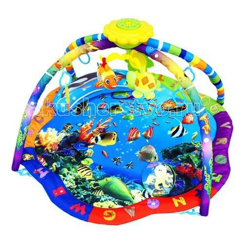 Развивающий коврик La-di-da Музыкальный подводный мирМузыкальный подводный мирРазвивающий коврик La-di-da Музыкальный подводный мир для малышей от 0 до 12 месяцев. Выполнен из мягкой набивной ткани.   Особенности: Игрушки можно повесить на карусель Хорошо развивают хватательный рефлекс Игрушки можно заменять любыми подвесками Коврик компактно складывается Удобен в хранении и транспортировке Легко стирается Размеры коврика: 85 х 85 х 51 см  В комплекте: 4 игровые дуги музыкальная панель управления из 15 мелодий 4 подвесные игрушки и подушка<br>
