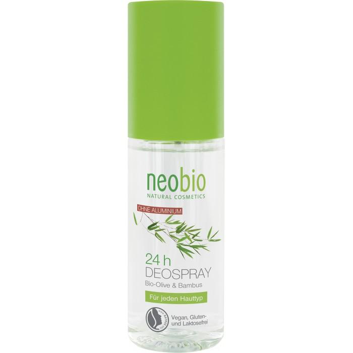 Косметика для мамы Neobio Дезодорант спрей 24 часа с био-оливой и бамбуком 100 мл спрей дезодорант 24 часа сенсация лайма lavera 75 мл
