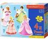 Castorland Пазл 4 в 1 Принцессы 22 элемента