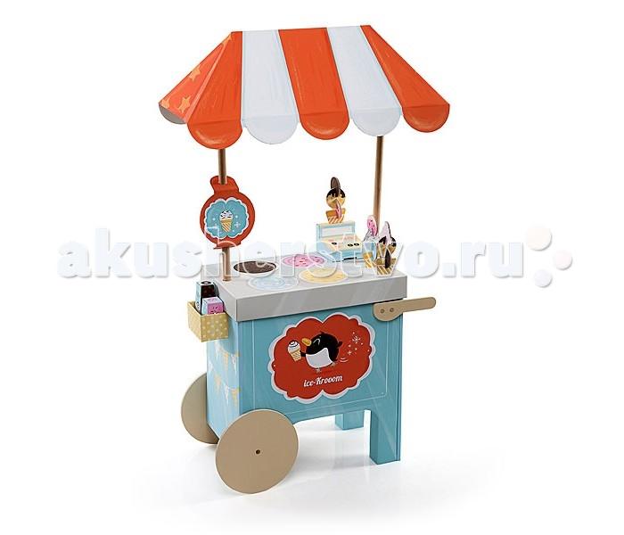 Krooom Игрушки из картона: набор Тележка с мороженымИгрушки из картона: набор Тележка с мороженымKrooom Игрушки из картона от 3 лет: набор Тележка с мороженым.  С новой тележкой Krooom вы можете продавать самое разное мороженое где угодно! Передвижная тележка может предложить вам огромный выбор наивкуснейшего десерта! Ваш маленький мороженщик может использовать разные формы, совочки и даже взбитые сливки! Сверху мороженое можно украсить шоколадным сиропом и разноцветной посыпкой. Продавец может использовать кассу, чтобы посчитать сумму покупки, используя при этом настоящие монетки!   Игровой набор Тележка с мороженым от Krooom Собирающаяся тележка Аксессуары: деревянные колёса, ручки и опоры для крыши Развитие мелкой моторики, воображения и логики Запатентованная конструкция с высокопрочным водонепроницаемым покрытием Соединения на прочных защёлках Разработана для безопасной игры, не содержит опасных веществ Сделан на 60% из потребительских материалов, на 100% из перерабатываемых материалов Идеальный баланс между надёжностью и отличным дизайном.<br>