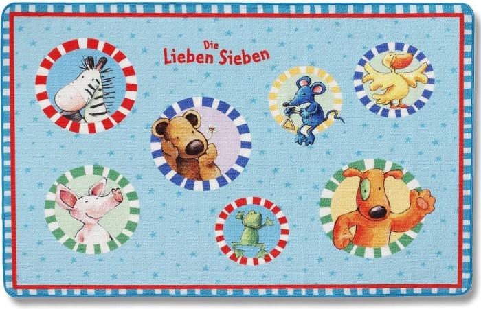 Boing Carpet Ковёр Die Lieben Sieben 202-0116Ковёр Die Lieben Sieben 202-0116Spiegelburg Ковёр Die Lieben Sieben 202-0116. Красочный ковер со скругленными углами прекрасно впишется в интерьер детской комнаты. Малышу понравится играть на его мягкой поверхности в компании веселых зверюшек.  Ковер изготовлен иглонабивным методом из высококачественной акриловой пряжи.Ворс плотный и мягкий высотой 10 мм.В волокнах содержится хитозан – уникальное вещество натурального происхождения, которое обладает антибактериальной активностью и нейтрализует запахи, вследствие чего изделия B&#246;ing Carpet не вызывают аллергических реакций и не вредят здоровью малышей.  По этому мягкому и тёплому ковру очень приятно ходить босыми ножками. Положите его возле детской кроватки, комода или шкафа с одеждой, а также в ванной комнате, чтобы Ваш ребёнок не стоял на холодном полу и не простужался.<br>