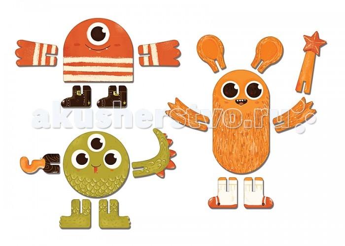 Конструкторы Krooom Игрушки из картона: 3D пазл Монстры krooom из картона stack