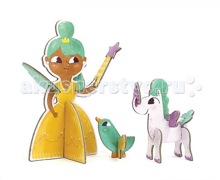 Конструкторы Krooom Игрушки из картона: 3D пазл Принцесса krooom из картона stack