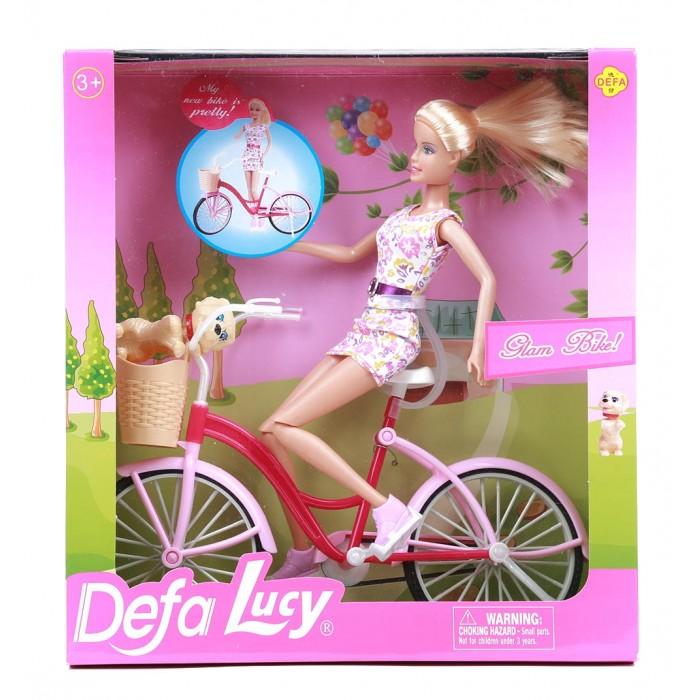Куклы и одежда для кукол Defa Lucy кукла на велосипеде с аксессуарами 28 см бра 1722 2w favourite