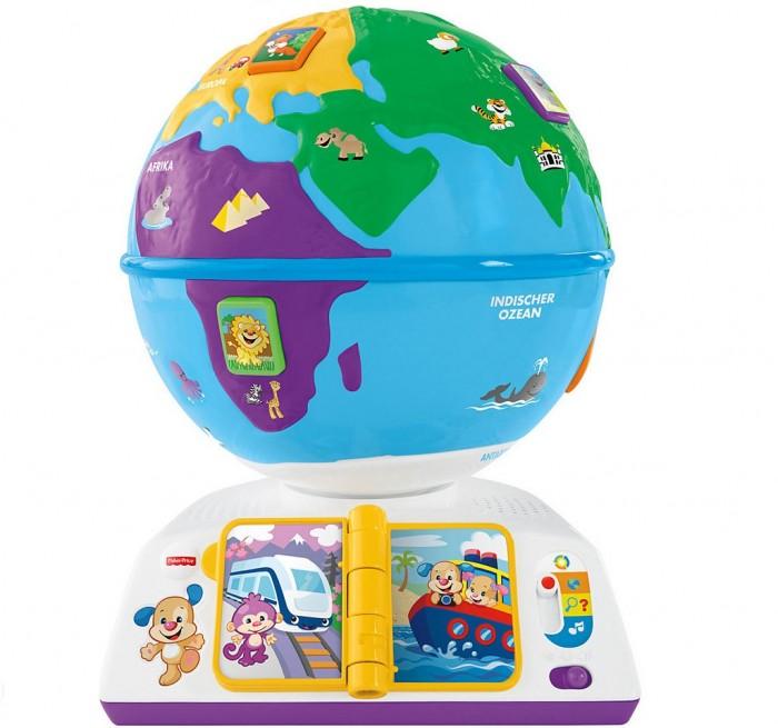 Fisher Price Mattel Обучающий глобус с технологией Smart StagesMattel Обучающий глобус с технологией Smart StagesПутешествовать и изучать мир намного интересней, когда рядом такие замечательные помощники, как Щенок и его Сестричка! Яркий вращающийся музыкальный глобус на подставке. Можно включать три режима игры, учитывая возраст и навыки ребенка. Обучает континентам, животным и их звукам, транспорту и приветствию на разных языках.  1 уровень - Обучаем Малыш слушает и изучает приветствия на разных языках, названия животных и издаваемые ими звуки. Нажимая на кнопки с животными и листая книгу, малыш получает поощрения в виде приветствий и песенок.  2 уровень - Вовлекаем Простые вопросы побуждают малыша изучать и находить животных из разных уголков мира, слушая поощряющие фразы.  3 уровень обучения - Развиваем Малыш развивает воображение, путешествуя под веселую музыку и песенки по всему миру, представляя, что интересного там можно увидеть!  В комплекте демонстрационные батарейки 3 х АА.<br>