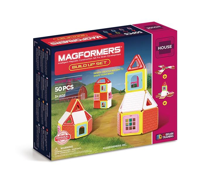 Конструктор Magformers Build Up Set Магнитный 50 элементовBuild Up Set Магнитный 50 элементовМагнитный конструктор Magformers Build Up Set 50 элементов 705003  Магнитный конструктор Build Up Set - Дом состоит из пятидесяти элементов, которые легко и прочно соединяются между собой. Внутри каждой объемной пластиковой детали находится неодимовый магнит, безопасный для здоровья маленьких строителей. Проявив фантазию, логическое и пространственное мышление, ребенок сможет строить красивые цветные домики и целые замки, а затем играть, придумывая различные сюжеты.<br>